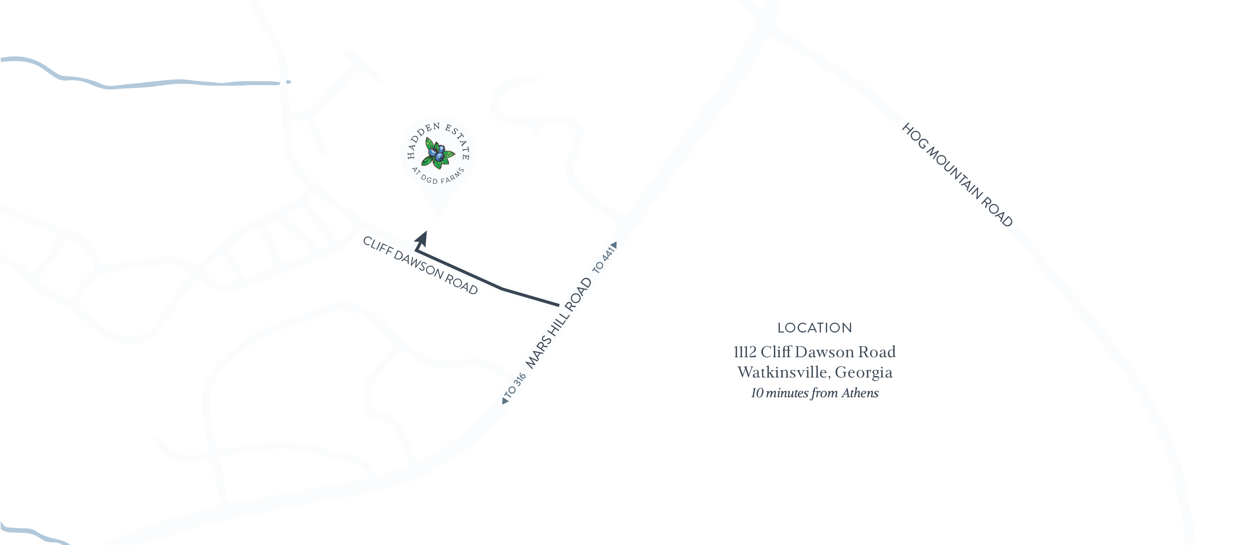 Hadden Estate at DGD Farms Location Map